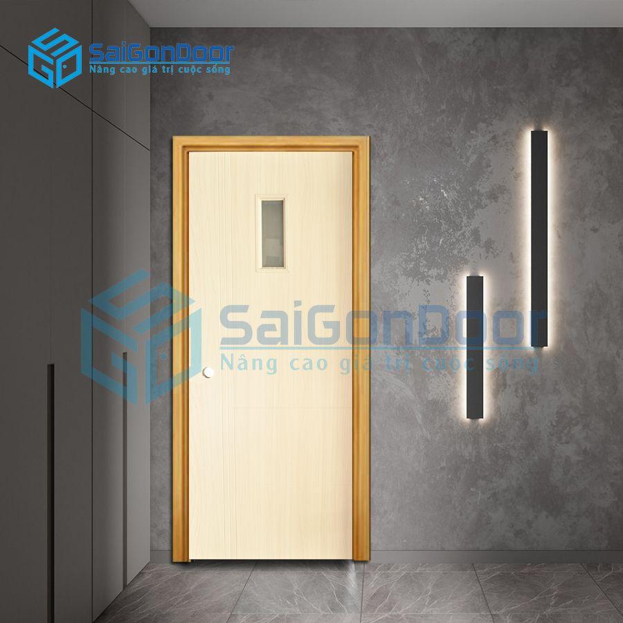Cửa nhựa giả gỗ Composite lối đi lại SYB.455-B01